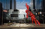 Sculpture by Alexander Liberman, Leadership Square, Oklahoma City, Oklahoma, United States of America, North America                                                                                     Stock Photo - Premium Rights-Managed, Artist: Robert Harding Images    , Code: 841-03066290