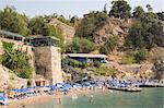Beach next to Old Harbour, Antalya, Anatolia, Turkey, Asia Minor, Eurasia                                                                                                                                Stock Photo - Premium Rights-Managed, Artist: Robert Harding Images    , Code: 841-03066655