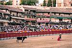 The main square of the village used as the Plaza de Toros, the bulls are young (novillos), Chinchon, Comunidad de Madrid, Spain, Europe                                                                  Stock Photo - Premium Rights-Managed, Artist: Robert Harding Images    , Code: 841-03066919
