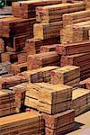 Piles of timber at Beaufort train station, from primary rain forest which has been logged out, north of Borneo, Sabah, Malaysia, Southeast Asia, Asia                                                    Stock Photo - Premium Rights-Managed, Artist: Robert Harding Images    , Code: 841-03067653