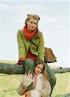 Mother and Daughter by Fence                                                                                                                                                                             Stock Photo - Premium Rights-Managednull, Code: 700-03067837