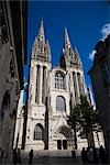 Quimper Cathedral, Quimper, Finistere, Brittany, France Stock Photo - Premium Rights-Managed, Artist: R. Ian Lloyd             , Code: 700-03068105