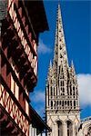 Quimper Cathedral, Quimper, Finistere, Brittany, France Stock Photo - Premium Rights-Managed, Artist: R. Ian Lloyd             , Code: 700-03068108