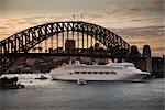Sydney Harbour Bridge and Cruise Ship, Sydney, New South Wales, Australia