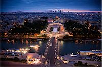 River Seine and Trocadero Fountain, Paris, France Stock Photo - Premium Rights-Managednull, Code: 700-03068325