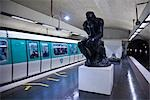 Rodin Sculpture in Varenne Metro Station, Paris, France Stock Photo - Premium Rights-Managed, Artist: R. Ian Lloyd             , Code: 700-03068473