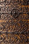 Close-up of Door, Notre Dame Cathedral, Paris, France