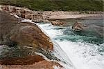 Livingstone Falls and Livingstone River, Katannilik Territorial Park Reserve, Baffin Island, Nunavut, Canada Stock Photo - Premium Royalty-Free, Artist: J. David Andrews         , Code: 600-03068799