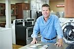 Appliance Store Owner Stock Photo - Premium Rights-Managed, Artist: Ron Fehling              , Code: 700-03068758