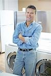Appliance Store Owner Stock Photo - Premium Rights-Managed, Artist: Ron Fehling              , Code: 700-03068762