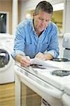 Appliance Store Owner Stock Photo - Premium Rights-Managed, Artist: Ron Fehling              , Code: 700-03068763