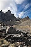 Tombstone Mountain, Tombstone Range, Ogilvie Mountains, Tombstone Territorial Park, Yukon, Canada Stock Photo - Premium Rights-Managed, Artist: J. David Andrews         , Code: 700-03068772