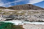 Soper Falls and Soper River, Katannilik Territorial Park Reserve, Baffin Island, Nunavut, Canada Stock Photo - Premium Royalty-Free, Artist: J. David Andrews         , Code: 600-03068806