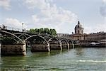 Pont Des Arts Over the Seine River, Academie Francaise in the Background, Paris, France Stock Photo - Premium Rights-Managed, Artist: Tomasz Rossa             , Code: 700-03069036