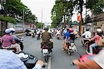 Motorcyclists in Ho Chi Minh City, Vietnam                                                                                                                                                               Stock Photo - Premium Rights-Managed, Artist: Pierre Arsenault         , Code: 700-03069432