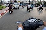 Motorcyclists in Ho Chi Minh City, Vietnam