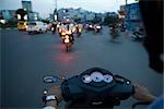 Motorcyclists in Ho Chi Minh City, Vietnam