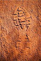 High angle view of shoe print in mud,Sedona,Arizona,USA                                                                                                                                                  Stock Photo - Premium Rights-Managednull, Code: 837-03069530