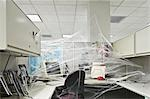 Office interiors covered with cobwebs                                                                                                                                                                    Stock Photo - Premium Rights-Managed, Artist: Glowimages               , Code: 837-03070906
