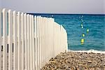 Fence on the beach                                                                                                                                                                                       Stock Photo - Premium Rights-Managed, Artist: Glowimages               , Code: 837-03071080