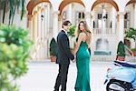 Newlywed couple in front of a hotel building,Biltmore Hotel,Coral Gables,Florida,USA                                                                                                                     Stock Photo - Premium Rights-Managed, Artist: Glowimages               , Code: 837-03071930