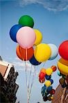 Low angle view of colorful balloons in a gay pride parade,DuPont Circle,Washington DC,USA                                                                                                                Stock Photo - Premium Rights-Managed, Artist: Glowimages               , Code: 837-03072134