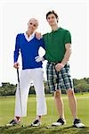 Couple standing in a golf course,Biltmore Golf Course,Coral Gables,Florida,USA                                                                                                                           Stock Photo - Premium Rights-Managed, Artist: Glowimages               , Code: 837-03073029