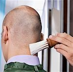 Man receiving a haircut in a salon                                                                                                                                                                       Stock Photo - Premium Rights-Managed, Artist: Glowimages               , Code: 837-03073113