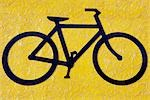 Close-up of a bicycle sign,Golden Gate Bridge,San Francisco,California,USA                                                                                                                               Stock Photo - Premium Rights-Managed, Artist: Glowimages               , Code: 837-03073301