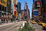 Buildings in a city,Times Square,Manhattan,New York City,New York State,USA                                                                                                                              Stock Photo - Premium Rights-Managed, Artist: Glowimages               , Code: 837-03073777