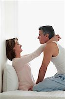 Couple romancing in the bedroom                                                                                                                                                                          Stock Photo - Premium Rights-Managednull, Code: 837-03074041