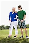 Couple standing in a golf course,Biltmore Golf Course,Coral Gables,Florida,USA                                                                                                                           Stock Photo - Premium Rights-Managed, Artist: Glowimages               , Code: 837-03074257