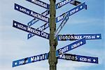 Close-up of directional signs,Los Angeles,California,USA                                                                                                                                                 Stock Photo - Premium Rights-Managed, Artist: Glowimages               , Code: 837-03074603