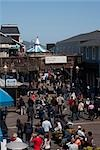 Group of people in a street market,Pier 39,San Francisco,California,USA                                                                                                                                  Stock Photo - Premium Rights-Managed, Artist: Glowimages               , Code: 837-03074627