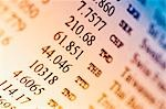 Close-up of financial figure's on a financial newspaper                                                                                                                                                  Stock Photo - Premium Rights-Managed, Artist: Glowimages               , Code: 837-03074679