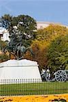 Statue of a man on a horse,Washington DC,Washington State,USA