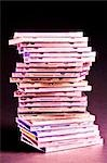 Stack of cd cases                                                                                                                                                                                        Stock Photo - Premium Rights-Managed, Artist: Glowimages               , Code: 837-03074751