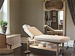 Massage Table in Treatment Room Stock Photo - Premium Rights-Managed, Artist: Natasha Nicholson        , Code: 700-03075401