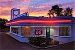 Route 66 Diner, Albuquerque, New Mexico, USA Stock Photo - Premium Rights-Managed, Artist: Jeremy Woodhouse         , Code: 700-03075756