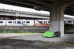 Tent under Overpass, Vancouver, British Columbia, Canada                                                                                                                                                 Stock Photo - Premium Rights-Managed, Artist: Grant Harder             , Code: 700-03075786