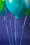 Close-up of Balloons Against a Blue Background Stock Photo - Premium Royalty-Free, Artist: Mitch Tobias             , Code: 600-03075830