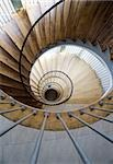 High angle view of a spiral staircase Stock Photo - Premium Royalty-Free, Artist: Marnie Burkhart, Code: 653-03079685