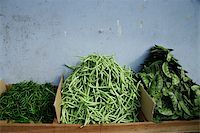 Three types of green beans in Little India,Singapore. Stock Photo - Premium Royalty-Freenull, Code: 655-03082771