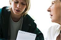 Boy talking with grandmother Stock Photo - Premium Royalty-Freenull, Code: 632-03083170