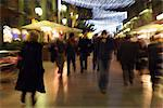 Pedestrians walking on pedestrian street at night, blurred Stock Photo - Premium Royalty-Free, Artist: Robert Harding Images, Code: 632-03083483