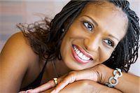Portrait of Woman Stock Photo - Premium Royalty-Freenull, Code: 600-03083869