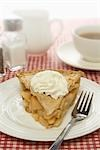 Apple Pie with Whipped Cream on Plate Stock Photo - Premium Royalty-Free, Artist: Nora Good                , Code: 600-03083977