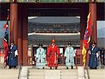 Gyeongbok Palace Royal Guards, Seoul, South Korea                                                                                                                                                        Stock Photo - Premium Rights-Managed, Artist: Chris McGuire            , Code: 700-03084027