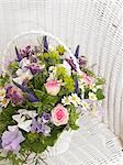Roses,sweet pea,veronica,camomile and,akelei in a basket Stock Photo - Premium Royalty-Free, Artist: Damir Frkovic, Code: 689-03124911