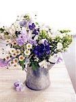 Summery bouquet with vetches,camomille,phlox and monkshood Stock Photo - Premium Royalty-Free, Artist: Minden Pictures, Code: 689-03124925